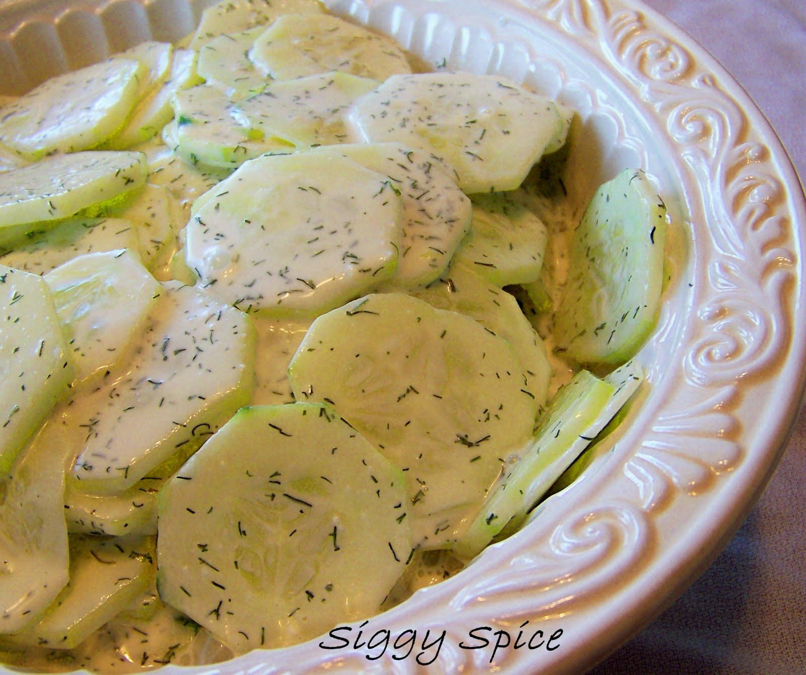 Siggy Spice: Creamy Dill Cucumber Salad