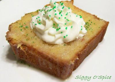 me just say that again..... White Chocolate. Irish Cream. Pound Cake ...