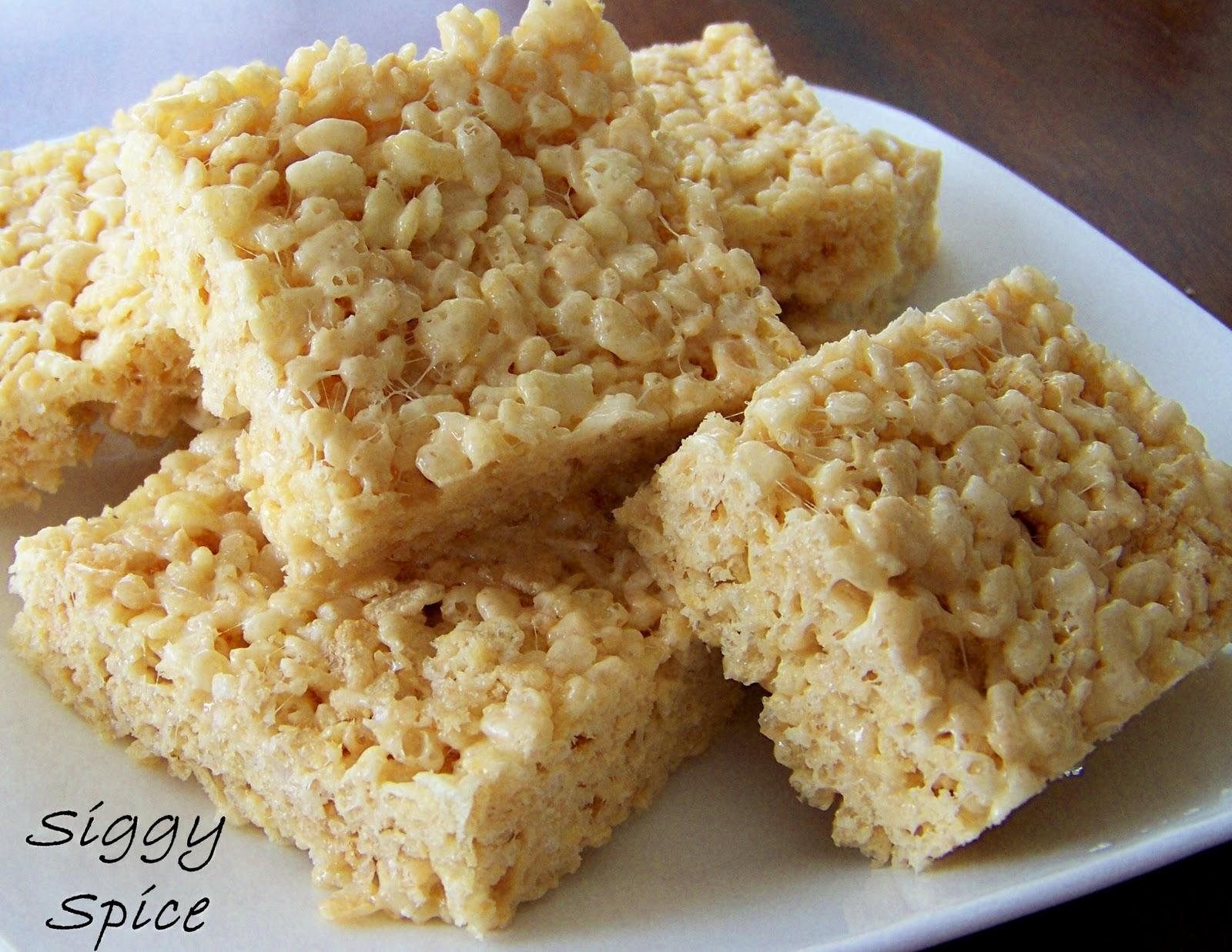 Siggy Spice: Brown Butter Sea Salt Rice Krispy Treats