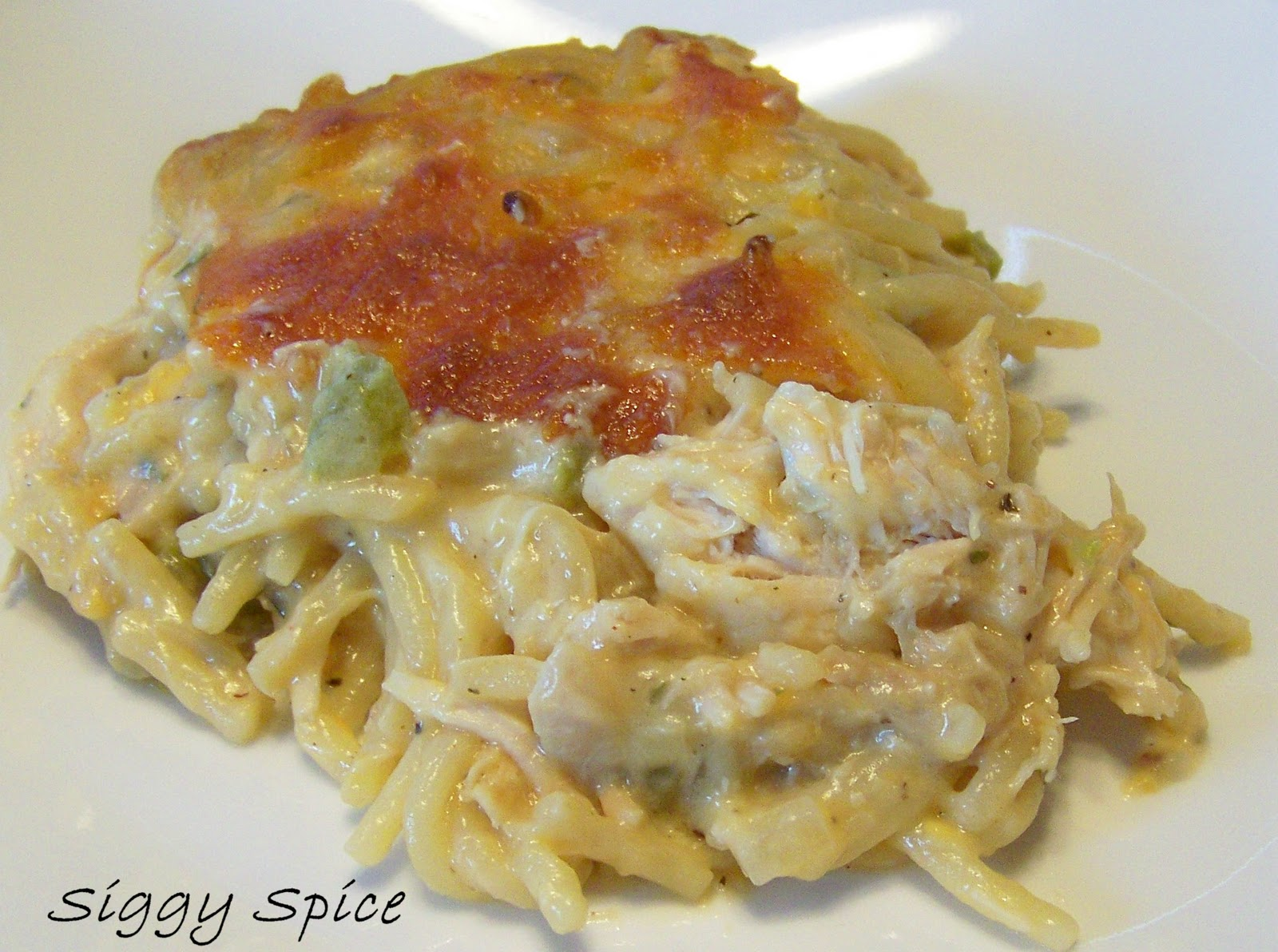 Siggy Spice: Cheesy Chicken Spaghetti