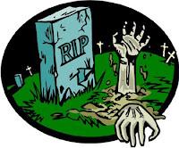zombie, lápida, tumba
