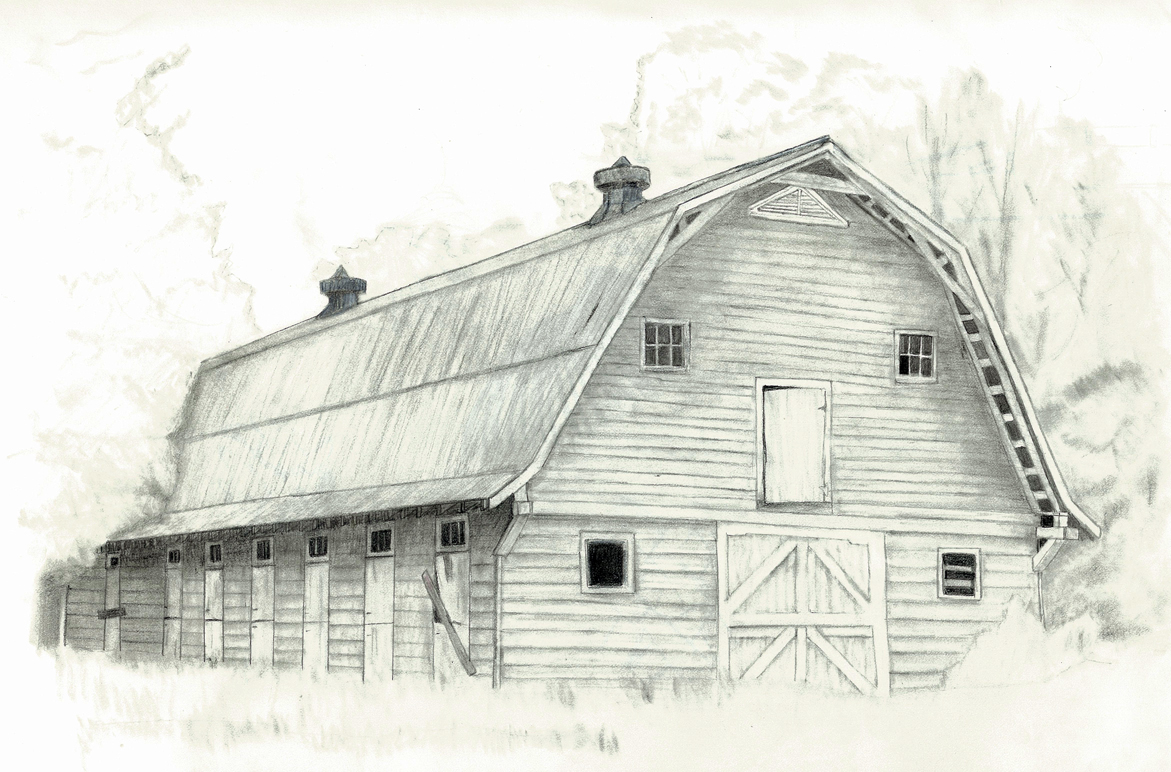 Radiant sketch works pencil sketches for How to draw a barn easy