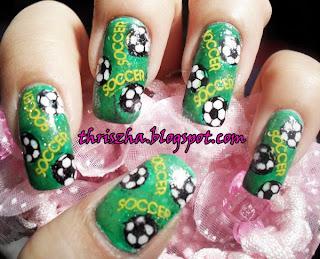 Fab Ur Nails Soccer Nail Art Entry