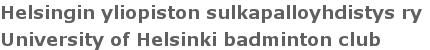 Helsingin yliopiston sulkapalloyhdistys (HYSY) ry