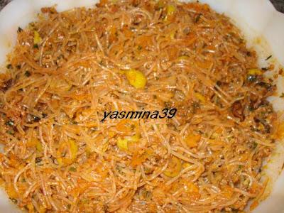 M'ssamen ou Mssamman marocain farci à la viande hachée et vermicelle Yasmina19