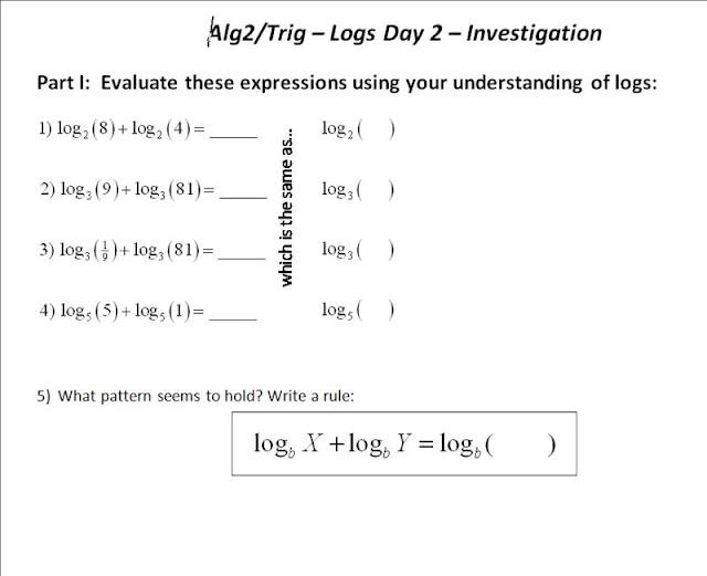 ft Log Laws – Properties of Logs Worksheet