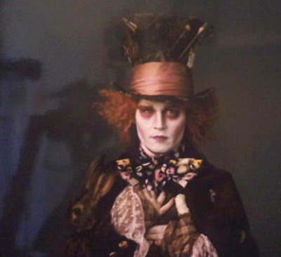 Johnny Depp in costume as the Mad Hatter