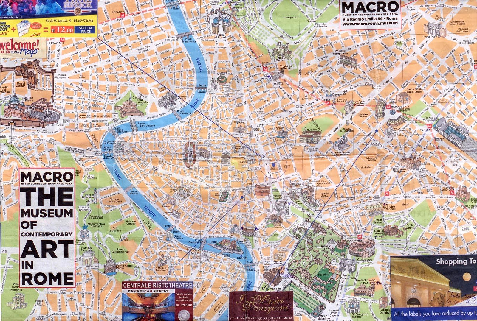 Картах туристическая карта рима