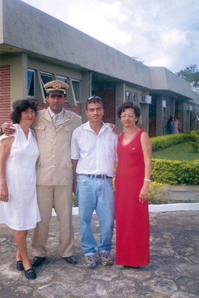 Parentes tia, irmão e primo e mãed
