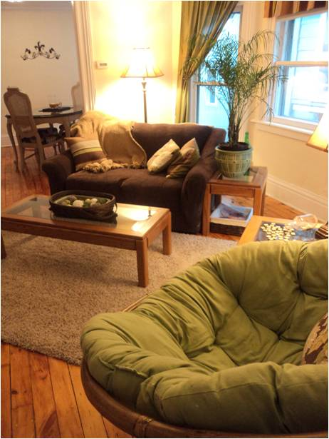 as for me and my {rented} house the post with a tour of our, Living room