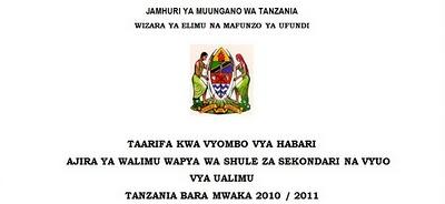 majina majina ya waliochaguliwa kujiunga na vyuo vya ualimu tanzania