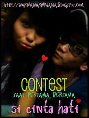 """""""contest saat pertama bersama si cinta hati""""."""