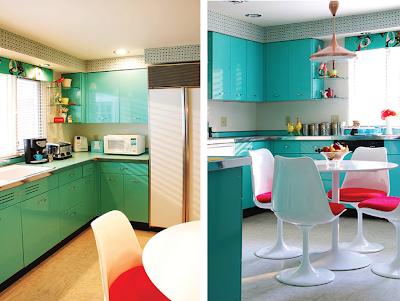 Jenna sais quois teal vintage kitchen - Teal kitchen appliances ...