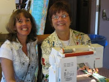 Mary Lou and Beth sew at Asilomar