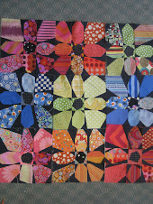 Kathy Sandling's Flower Power Quilt!