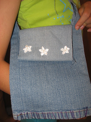 Showing off Upcycled Jeans projects