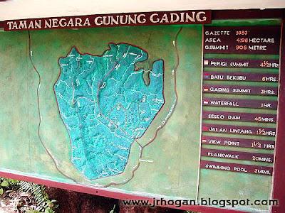 Gunung Gading Map in Sarawak