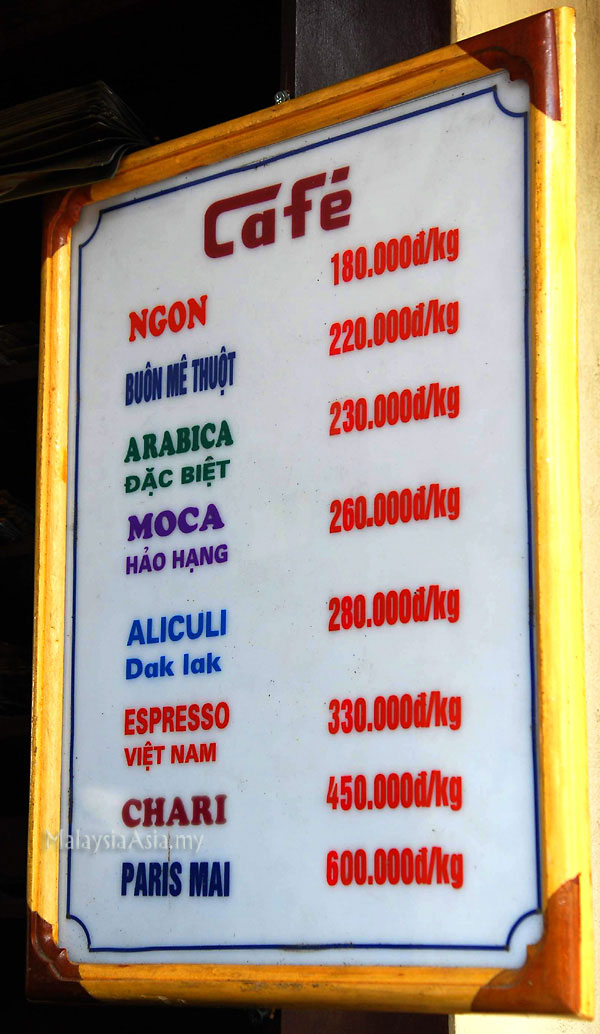 Coffee Price in Hanoi Vietnam