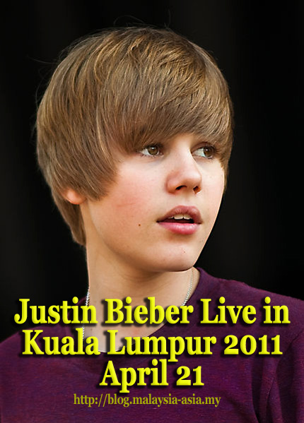 pictures of justin bieber 2011. Justin Bieber Concert Live in Kuala Lumpur 2011 is officially confirmed for