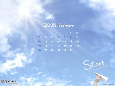desktop calendar wallpaper. Fenruary desktop calendar