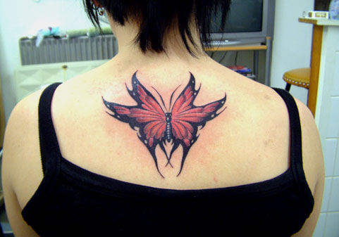 Butterfly Tribal Tattoos8#