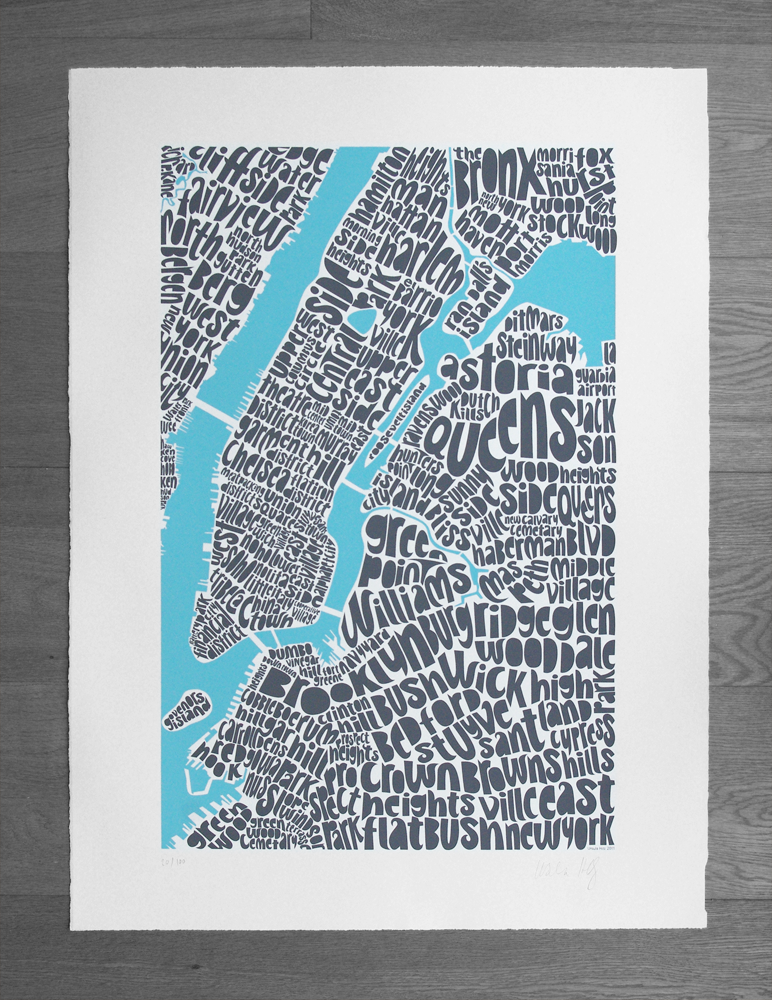 Seagull 39 S Eye New York Type Map Limited Edition