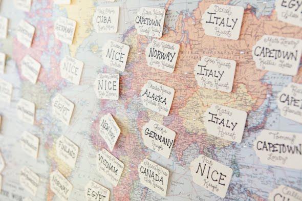 Wedding Escort Board Ideas : Travel themed seating cards weddingbee