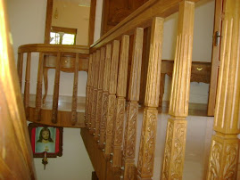 Carved stair  posts