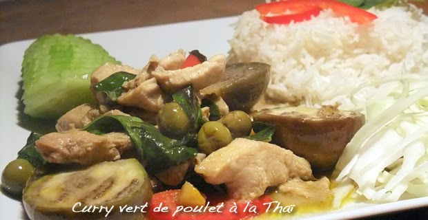 Curry vert de poulet à la Thaï