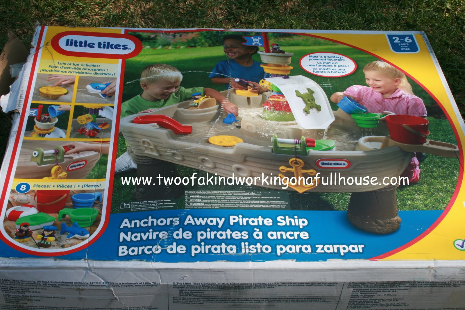 splash away with the little tikes anchors away pirate ship water