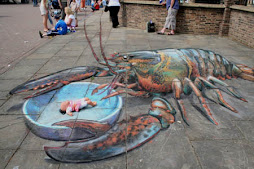 Pavement Art - Lobster
