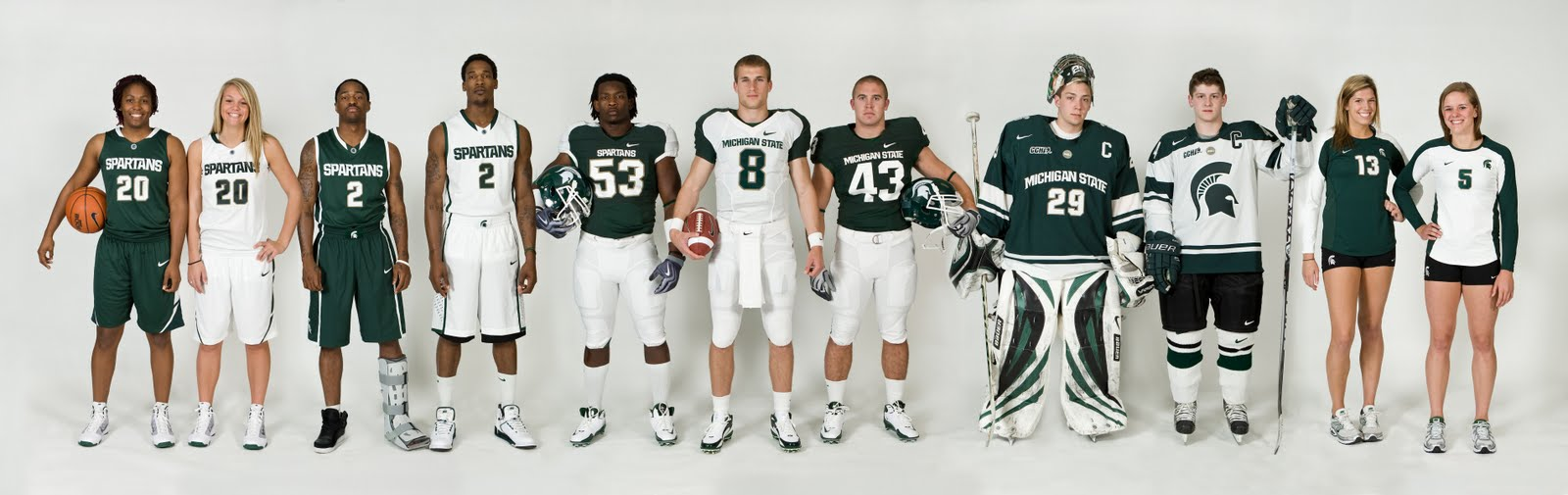 The Other Side of Spartan Sports: MSU unveils new uniforms, Nike-inspired  branding