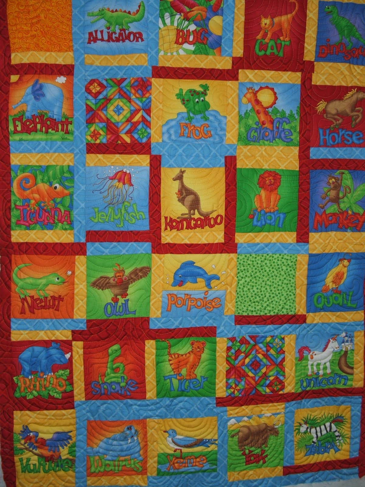 Camlyn Quilts: Donna s Jungle Alphabet