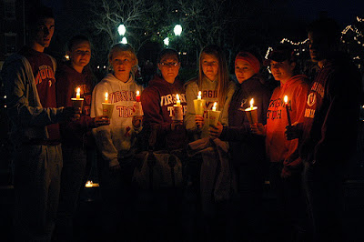 candlelight vigil for those who are sick