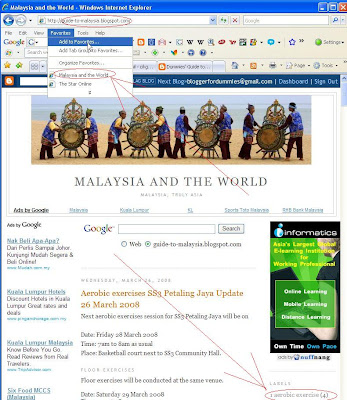 screenshot Guide to Malaysia and the world