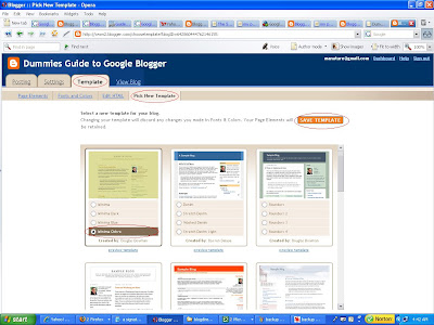 New Blogger: Picking New template