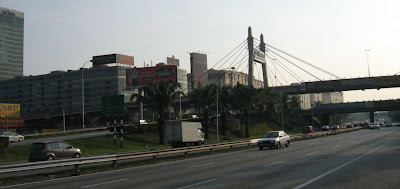 PJ Penang bridge LDP Suspension bridge over Federal Highway