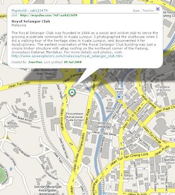 map Royal Selangor Club Kuala Lumpur