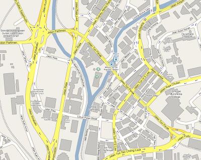 location map Masjid Jamek Kuala Lumpur