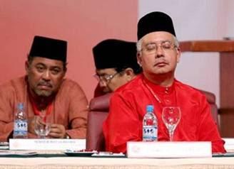 sleeping Najib Abdul Razak outgoing Malaysia Deputy Prime Minister