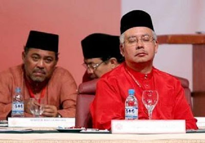 sleeping Deputy Prime Minister Najib Abdul Razak