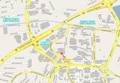 location map of PKNS Tower, Persiaran Barat