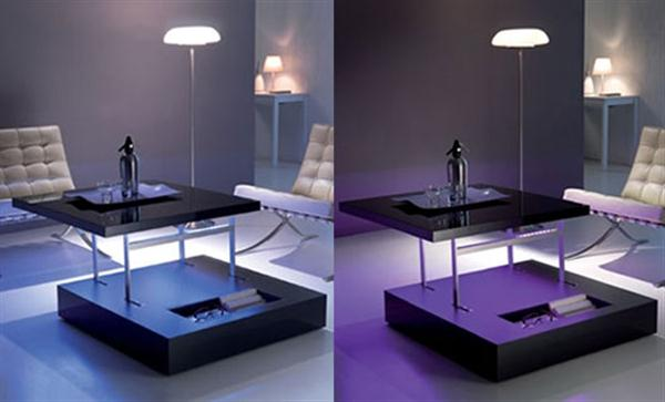 Contemporary Bedroom Designs: Modern LED Table Decorating Ideas