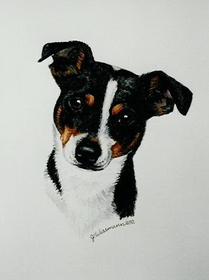 Rat Terrier Tricolor painting for sale by Janet Wissmann
