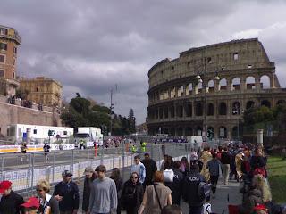 marathon de rome, colisé, rome en images
