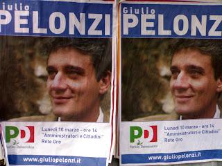 affiche des élections italiennes, rome, rome en images, italie