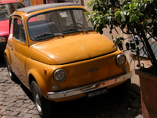 nuova fiat 500,nouvelle fiat 500,cinquecento,trastevere,rome,italie