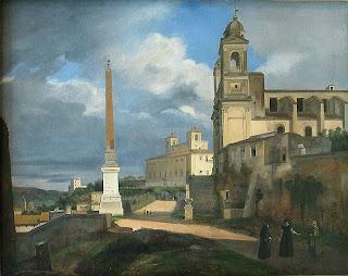 Granet, La Trinité des Monts et la Villa Médicis à Rome, 1808, italie, rome en images