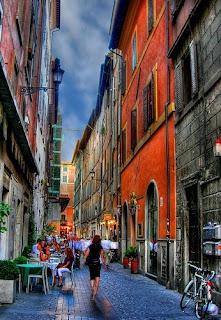 rues de rome, italie