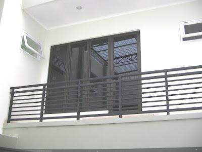 Aluminium Jendela + Railling tangga besi